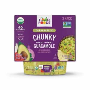 Organic Chunky Guacamole 3 Pack Packaging