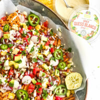Taco Salad with Spicy Queso Blanco Style Dip